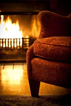 Haven- def. Roaring fire, wall of books, and soft oriental carpet.