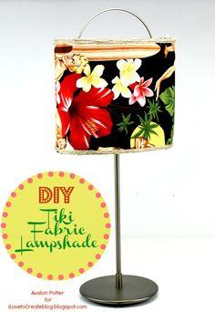 iLoveToCreate Blog: DIY Tiki Fabric Lampshade