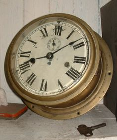 Brass Ships Clock from Adverts.ie  #Antique #Shipclock