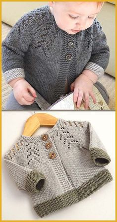 Baby Cardigan Sweater Strickmuster - In the Loop Stricken - baby sweater knitt. - Baby Cardigan Sweater Strickmuster – In the Loop Stricken – baby sweater knitting patterns – # - Beginner Knitting Patterns, Easy Knitting, Knitting For Beginners, Knitting Projects, Knitting Charts, Kids Knitting, Knitting Stitches, Cardigan Bebe, Crochet Cardigan