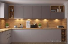 Kitchen Design Gallery, Kitchen Room Design, Luxury Kitchen Design, Interior Design Kitchen, Kitchen Decor, L Shaped Kitchen Designs, Kitchen Cupboard Designs, Diy Kitchen Storage, Modern Kitchen Cabinets