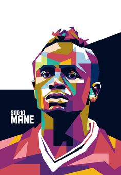 "Beautiful ""Sadio Mane "" metal poster created by FAUZI MAULANA. Our Displate metal prints will make your walls awesome. Liverpool Fc, Football Art, Football Players, Pop Art Posters, Poster Prints, Messi Gif, Messi And Ronaldo, Soccer Memes, Caricatures"