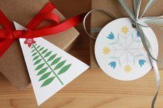 free printable gift tags for Hanukkah (and Christmas too)