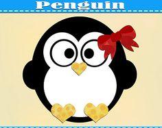 Christmas PenguinDigital TemplatePattern  Cameo And Svg Files
