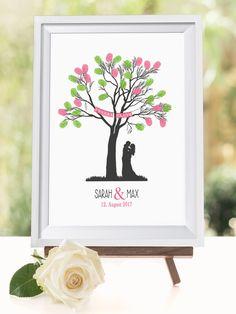 pin von wedding shop love grows auf alles f r die hochzeit g stebuch fingerabdruck braum. Black Bedroom Furniture Sets. Home Design Ideas