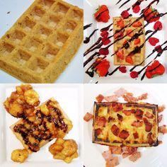 Syn Free Waffles Three Ways - Slimming World Recipe - Easy - Breakfast - Healthy Extra B Slimming World Waffles, Slimming World Cheesecake, Slimming World Cake, Slimming World Recipes, Healthy Eating Tips, Healthy Nutrition, Healthy Food, Berry Cheesecake, Waffle Recipes