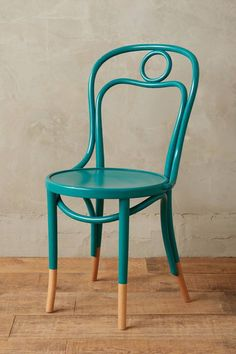 Scrolled Bentwood Dining Chair, Circle Nice inspiration for freshening up some vintage chairs Affordable Furniture, Unique Furniture, Home Furniture, Furniture Removal, Rustic Furniture, Outdoor Furniture, Painted Chairs, Painted Furniture, Painted Wood