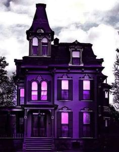 Purple Home . Purple Home, Shades Of Purple, Deep Purple, Second Empire, Purple Aesthetic, Aesthetic Dark, Gothic House, Gothic Mansion, All Things Purple