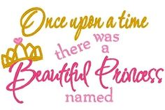 Once Upon A Time Princess - 3 Sizes! | Princess | Machine Embroidery Designs | SWAKembroidery.com Band to Bow