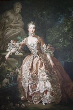 Portraits of Madame de Pompadour populate the estate, carved into stone statues and painted in oil.