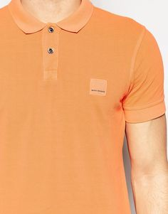 Image 3 of Boss Orange Polo Shirt With Logo In Slim Fit