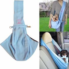 7 Stylish Dog Carriers For Puppies- Puppieslove.net Sling Carrier, Dog Carrier, Dog Travel, Travel Tote, Pet Sling, Dog Backpack, Pet Carriers, Pet Accessories, Small Dogs