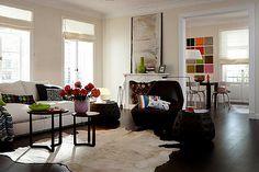 Dunkles Parkett im Wohnzimmer - Wohnräume einrichten mit Braun 11