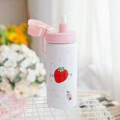 Strawberry Farm, Thermal Insulation, Random Things, Kawaii, Japanese, Bottle, Products, Bottles, Random Stuff