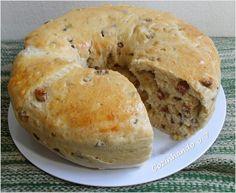 Cozinhando o 7: Pão da Roça (pão com linguiça, mussarela e cebola)
