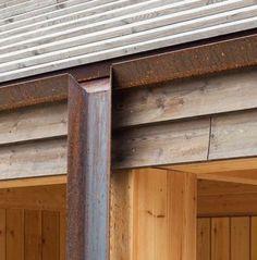 Culvert – Design it. Live it. Design Exterior, Exterior Siding, Roof Design, Interior And Exterior, Cabin Design, Architecture Details, Interior Architecture, Victorian Architecture, Roof Detail