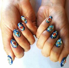 Arabian Nights nails by uneedamanicure, via Tumblr