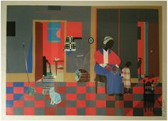 """After Romare Bearden (American, 1911-1988), """"Early Carolina Morning"""", 1996, offset lithograph in colors, ed. 950"""