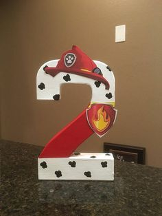These are priced per number Please make sure to order the correct quantity of numbers from the drop down box, and put the number and character that you would like in the notes section. These custom made numbers are painted and decorated to look like the Paw Patrol Characters and are 8