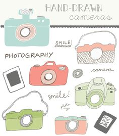 Hand Drawn Camera Clip Art | Angie Makes