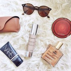 Some of Josie's beauty must-haves including our Oligo Protect Cream SPF 15 - @FashionMumblr