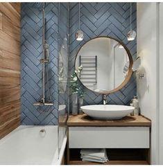 Beautiful Breathtaking Powder Bathroom Ideas Tips & Guide – homedecorsdesign Modern Bathrooms Interior, Modern Bathroom Design, Bathroom Interior Design, Bathroom Designs, Ideas Cabaña, Decor Ideas, Bathroom Tiles Combination, Small Bathroom, Bathroom Ideas