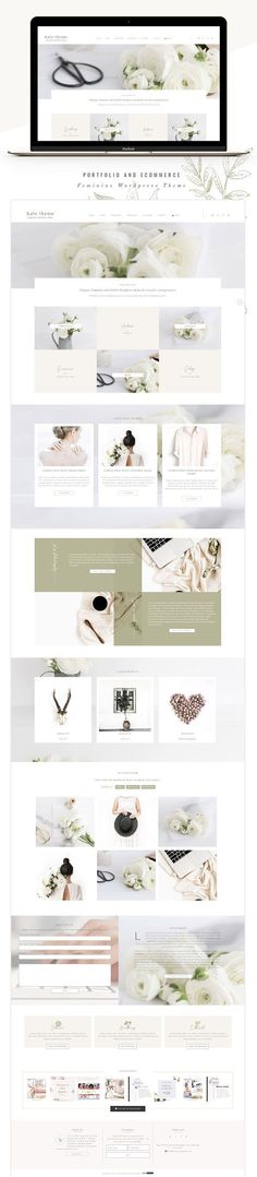 Portfolio eCommerce Genesis theme ka by Lovely Confetti on @creativemarket | Kate is a modern, sophisticated and elegant WordPress theme designed for you to create your own gorgeous and eye-catchingwith feminine website. Its minimalist style makes it especially well-suited for photographers, bloggers, creatives. | #Wordpress #theme #feminine #ecommerce #minimal #blogger #creative *affiliate #webdesignminimalist