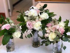 Bouquets, Glass Vase, Wedding Decorations, Home Decor, Decoration Home, Bouquet, Room Decor, Bouquet Of Flowers, Wedding Decor