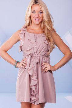 stylish pink ruffled short prom dress