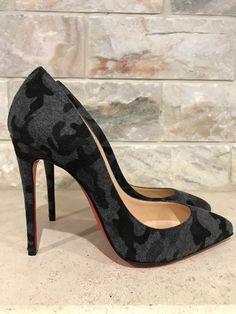 3d71e7f7f0 NIB Christian Louboutin Pigalle Follies 100 Black Grey Fusain Camo Pump  Heel 36 #ChristianLouboutin #PumpsClassics #SpecialOccasion