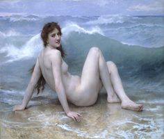William-Adolphe Bouguereau : The Wave (1825-1905) Canvas Gallery Wrapped Wall Art Print  William-Adolphe Bouguereaus The Wave canvas print. Stretched and framed on 2cm depth wooden frame.  3-Panel (triptych, photo 2) or one panel (photo 3).  Ready to hang!  Sizes available:  *1 panel 17.5 x 23.5 (45x60cm) *1 panel 23.5 x 27.5 (60x70cm) *1 panel 27.5 x 35.5 (70x90cm) *1 panel 31.5 x 39.5 (80x100cm) *1 panel 35.5 x 47 (90x120cm) *3 panel 29.5 x 23.5 (75x60cm) *3 panel 35.5 x 27.5 (90x70cm) *3…