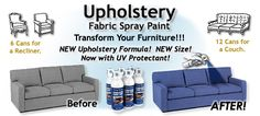 Fabric Spray Paint Chairs and Sofas Upholstery Paint - Has anyone used this? Wonder how well it works & how much a can covers.