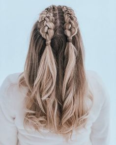 70 Super Easy DIY Hairstyle Ideas For Medium Length Hair Ecemella - Half French . - 70 Super Easy DIY Hairstyle Ideas For Medium Length Hair Ecemella – half french braids – - Medium Hair Styles, Curly Hair Styles, Natural Hair Styles, Hairstyles For Medium Length Hair Easy, Braids For Medium Length Hair, Hair With Braids, Short Hair Braid Styles, Hair Medium, Half French Braids