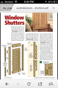 Plantation Shutters Construction Plans