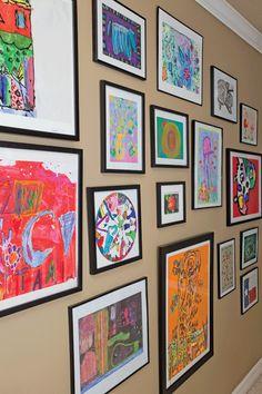 Great children's art wall