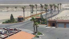 The entrance to the Sonoran Sun Resort Rocky Point Mexico Puerto Penasco Mexico.  You pass through the 24 hour a day staffed security and proceed to the lobby for check in.