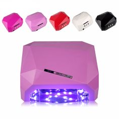 Tignish Pro SUN36W Diamond Shaped Nail Art UV LED Gel Curing Lamp