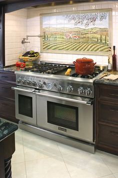 """Thermador Kitchen Gallery : 48"""" Pro Grand Range. My stove that's we r putting in our new house! Can't wait to cook on this beauty."""