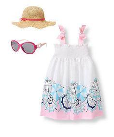 ecc1f73cfce97 Janie Jack floral summer sleeveless Umbrella Swim Cover-Up 10 sunglasses hat