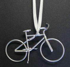 mountain bike wire ornament