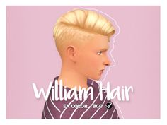 """syaovu: """" William Hair A shaved side, flipped to the left hair. It was fast and easy to cut it from the original. It has little bit glitches showing root hair if the forehead is flat, so you may need..."""