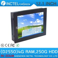 """Win.7 XP 12.1"""" All-IN-One touchscreen PCs with HD 2mm ultra-thin LED 4:3 Panel design Dual Core D2550 1.86Ghz 4G RAM 250G HDD"""