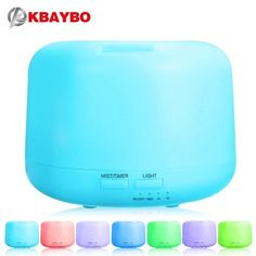 Ultrasonic Aromatherapy Humidifier Essential Oil Diffuser Air Purifier for Home Mist Maker Aroma Diffuser Fogger LED Light 300ML  #decoration #airfryer #homedecor #home #electronics #household #love