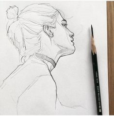 Drawing Pencil Portraits - gurl Discover The Secrets Of Drawing Realistic Pencil Portraits Sketch Art, Drawing Sketches, Cool Drawings, Drawing Art, Drawing Ideas, Line Sketch, Portrait Sketches, Horse Drawings, Drawing Poses