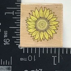 Rubber Stamp Small Sunflower All Night Media Floral Flourish Botanical T148  #AllNightMedia
