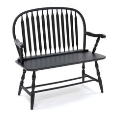 CAROLINA COTTAGE Windsor Bench Farmhouse Antique Black Accent Bench at Lowe's. This classically designed Windsor bench is ideal for a decorative accent, or functional piece of furniture.