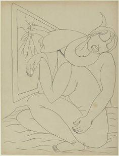 """Victor BRAUNER, """"Sans titre"""", 1936 - Mine graphite et encre de Chine sur papier, 65,4 x 50 cm, Paris, Centre Pompidou, musée national d'Art moderne, Centre de création industrielle"""