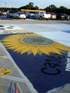 painting parking spaces seniors | ... seniors must paint over their spots in preparation for the next class