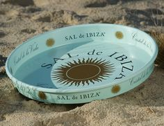 SAL de IBIZA-branded SERVING TRAY – sheet metal @ saldeibiza.com…