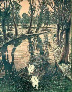 Gwen Raverat, woodcut. 1948.  For more information... http://williampryor.wordpress.com/2009/02/14/gwen-raverat/